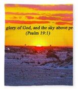 2014 03 12 02 A Psalm 19 1 Fleece Blanket