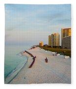 2014 08 05 01 Navarre Beach 100 Fleece Blanket