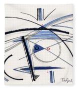 2014 Abstract Drawing #1 Fleece Blanket