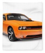 2014 Dodge Challenger Muscle Car Fleece Blanket