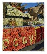 2015 Cal Poly Rose Parade Float 15rp052 Fleece Blanket