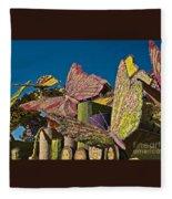 2015 Rose Parade Float Of Butterflies 15rp045 Fleece Blanket
