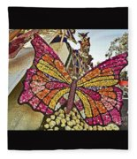2015 Rose Parade Float With Butterflies 15rp043 Fleece Blanket