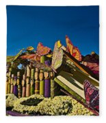 2015 Rose Parade Float With Butterflies 15rp044 Fleece Blanket