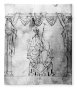 Charlemagne (742-814) Fleece Blanket