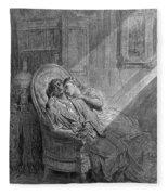 Dor� The Raven, 1882 Fleece Blanket