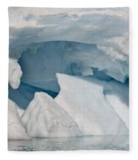 Iceberg, Antarctica Fleece Blanket
