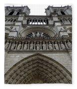 Notre Dame In Paris France Fleece Blanket