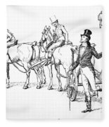Scene From Pride And Prejudice By Jane Austen Fleece Blanket