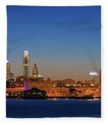 Skyscrapers At The Waterfront Fleece Blanket