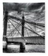 The Albert Bridge London Fleece Blanket