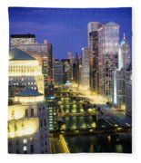 Buildings At The Waterfront Fleece Blanket