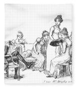 Scene From Pride And Prejudice By Jane Austen Fleece Blanket