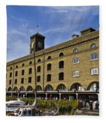 St Katherines Dock London Fleece Blanket