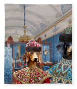 Dachshund Art Canvas Print  Fleece Blanket