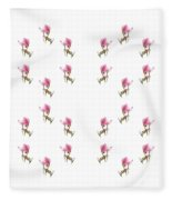 24 Dancing Pink Magnolias Square Fleece Blanket