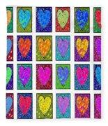 24 Hearts In A Box Fleece Blanket