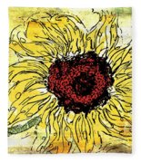 24 Kt Sunflower - Barbara Chichester Fleece Blanket