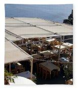 Views Of Santorini Greece Fleece Blanket