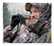 Hunting In Oregon Fleece Blanket