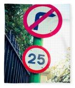 25 Mph Road Sign Fleece Blanket