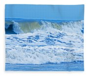 Hurricane Storm Waves Fleece Blanket