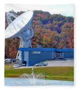 26 West Antenna And Research Building Fleece Blanket