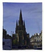 View Of Episcopal Cathedral In Edinburgh Fleece Blanket