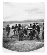 Civil War Black Troops Fleece Blanket