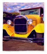 '28 Ford Pick Up Fleece Blanket