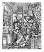 Dance Of Death, 1538 Fleece Blanket