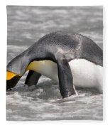 King Penguin Fleece Blanket