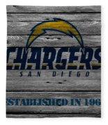 San Diego Chargers Fleece Blanket by Joe Hamilton