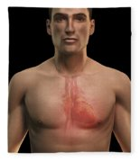 The Cardiovascular System Fleece Blanket