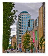 2nd Avenue - Seattle Washington Fleece Blanket
