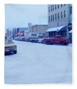 2nd Street Fairbanks Alaska 1969 Fleece Blanket