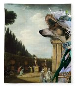 Chart Polski - Polish Greyhound Art Canvas Print Fleece Blanket