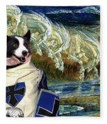 Karelian Bear Dog Art Canvas Print Fleece Blanket