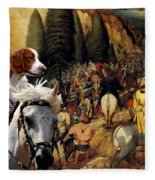Welsh Springer Spaniel Art Canvas Print Fleece Blanket