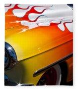 1954 Chevy Bel Air Custom Hot Rod Fleece Blanket