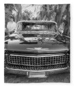 1960 Cadillac Eldorado Biarritz Convertible Painted Bw Fleece Blanket