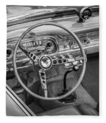 1963 Ford Falcon Sprint Convertible Bw  Fleece Blanket