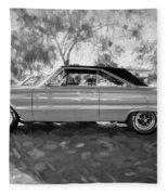 1967 Plymouth Belvedere Gtx 440 Painted Bw Fleece Blanket