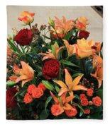 A Gallery's Flowers Fleece Blanket