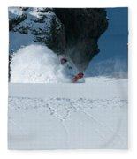 A Male Snowboarder Makes A Series Fleece Blanket