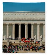 Abraham Lincoln Memorial In Washington Dc Usa Fleece Blanket