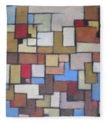 Abstract Line Series Fleece Blanket