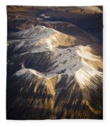 Aerial Mountains Fleece Blanket