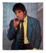 Al Pacino 2 Fleece Blanket