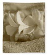 Aloha'lani Pua Melia Lei Manakai Fleece Blanket